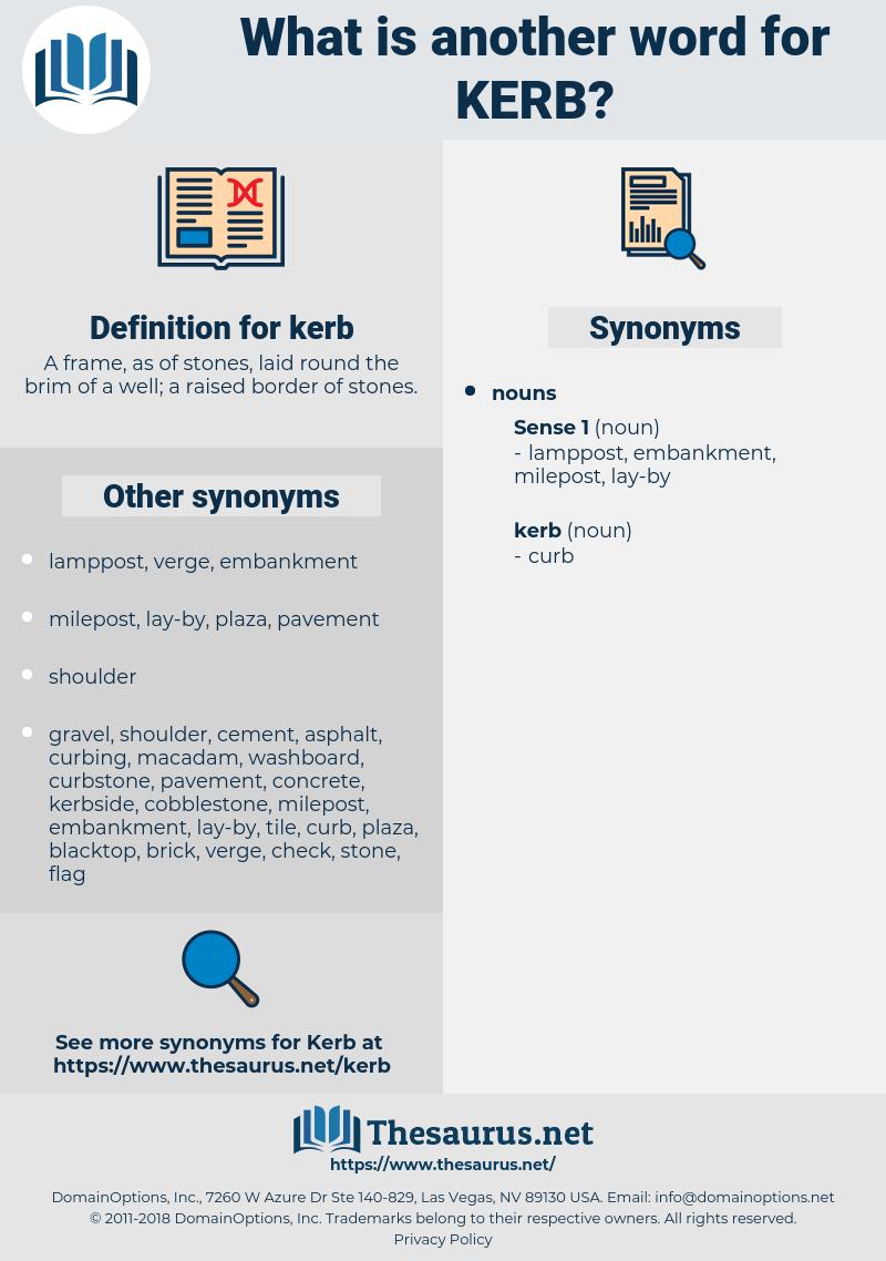 kerb, synonym kerb, another word for kerb, words like kerb, thesaurus kerb