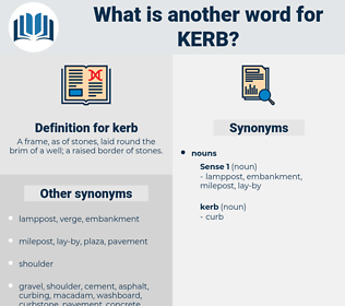 kerb, synonym kerb, another word for kerb, words like kerb, thesaurus kerb