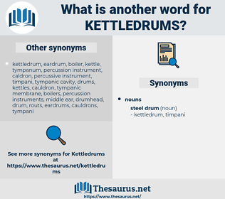 kettledrums, synonym kettledrums, another word for kettledrums, words like kettledrums, thesaurus kettledrums
