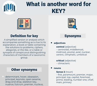key, synonym key, another word for key, words like key, thesaurus key