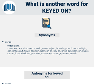 keyed on, synonym keyed on, another word for keyed on, words like keyed on, thesaurus keyed on