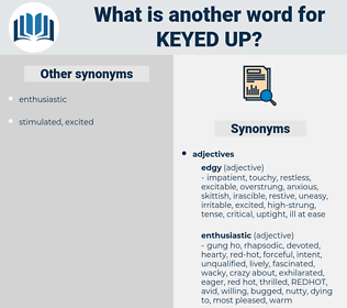 keyed up, synonym keyed up, another word for keyed up, words like keyed up, thesaurus keyed up