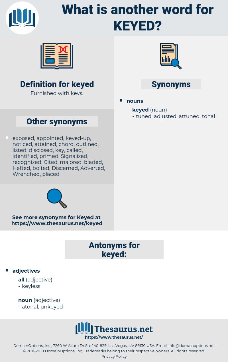 keyed, synonym keyed, another word for keyed, words like keyed, thesaurus keyed