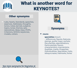 keynotes, synonym keynotes, another word for keynotes, words like keynotes, thesaurus keynotes