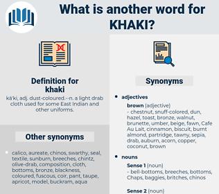 khaki, synonym khaki, another word for khaki, words like khaki, thesaurus khaki