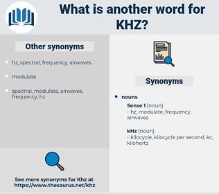 khz, synonym khz, another word for khz, words like khz, thesaurus khz