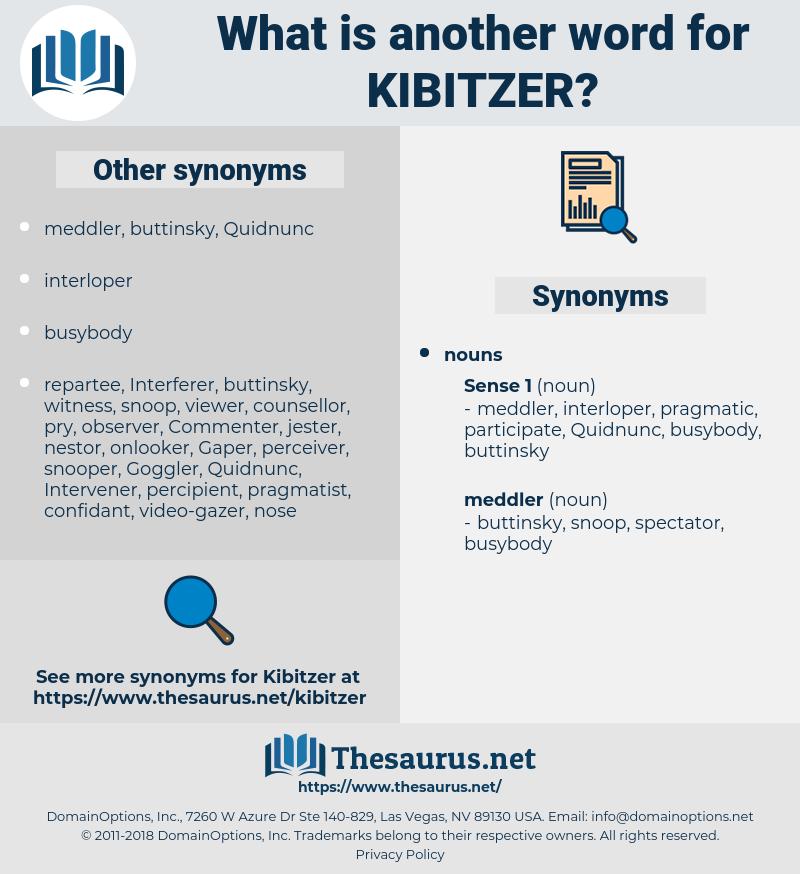 kibitzer, synonym kibitzer, another word for kibitzer, words like kibitzer, thesaurus kibitzer