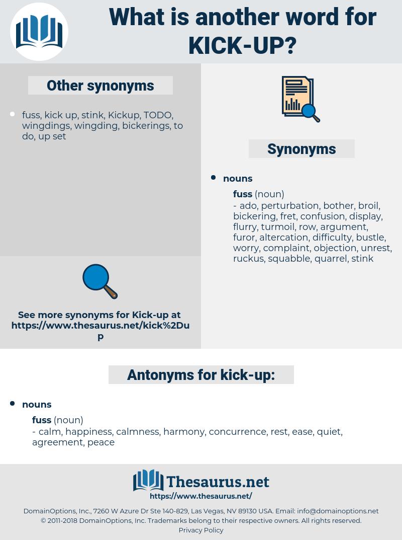 kick up, synonym kick up, another word for kick up, words like kick up, thesaurus kick up