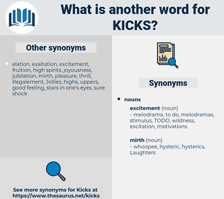 Kicks, synonym Kicks, another word for Kicks, words like Kicks, thesaurus Kicks