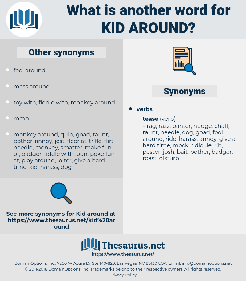 kid around, synonym kid around, another word for kid around, words like kid around, thesaurus kid around