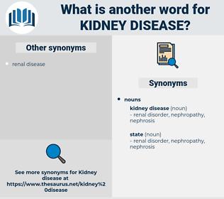kidney disease, synonym kidney disease, another word for kidney disease, words like kidney disease, thesaurus kidney disease