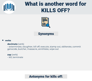 kills off, synonym kills off, another word for kills off, words like kills off, thesaurus kills off