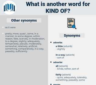 kind of, synonym kind of, another word for kind of, words like kind of, thesaurus kind of