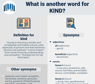 kind, synonym kind, another word for kind, words like kind, thesaurus kind