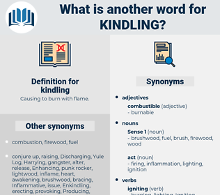 kindling, synonym kindling, another word for kindling, words like kindling, thesaurus kindling