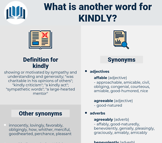 kindly, synonym kindly, another word for kindly, words like kindly, thesaurus kindly