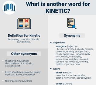 kinetic, synonym kinetic, another word for kinetic, words like kinetic, thesaurus kinetic