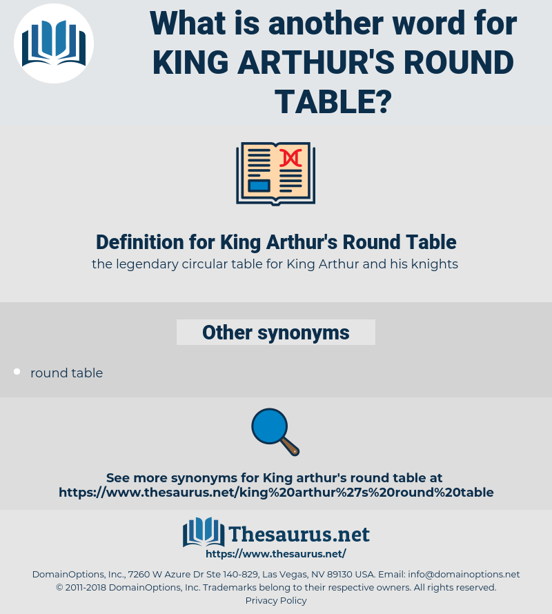 Definition Of Round Table.Synonyms For King Arthur S Round Table Thesaurus Net