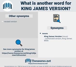 King James Version, synonym King James Version, another word for King James Version, words like King James Version, thesaurus King James Version