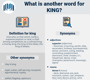 king, synonym king, another word for king, words like king, thesaurus king