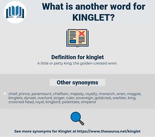 kinglet, synonym kinglet, another word for kinglet, words like kinglet, thesaurus kinglet