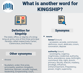 another word for kingship