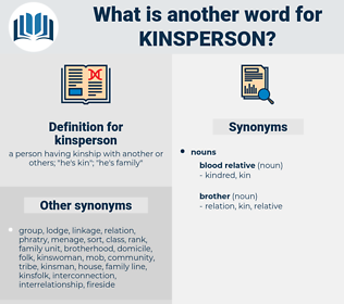 kinsperson, synonym kinsperson, another word for kinsperson, words like kinsperson, thesaurus kinsperson