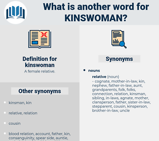 kinswoman, synonym kinswoman, another word for kinswoman, words like kinswoman, thesaurus kinswoman