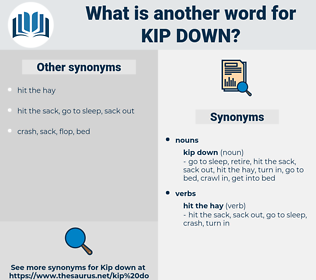 kip down, synonym kip down, another word for kip down, words like kip down, thesaurus kip down
