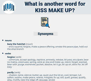 kiss make up, synonym kiss make up, another word for kiss make up, words like kiss make up, thesaurus kiss make up