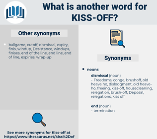 kiss off, synonym kiss off, another word for kiss off, words like kiss off, thesaurus kiss off
