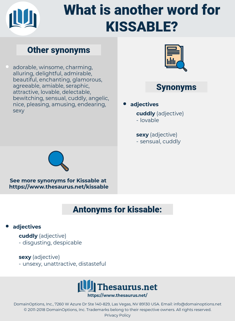 Synonyms For Kissable Antonyms For Kissable Thesaurus Net