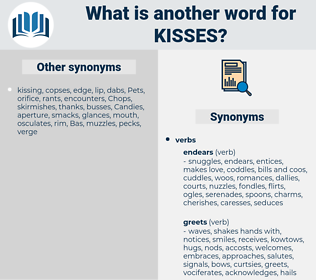kisses, synonym kisses, another word for kisses, words like kisses, thesaurus kisses