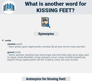 kissing feet, synonym kissing feet, another word for kissing feet, words like kissing feet, thesaurus kissing feet