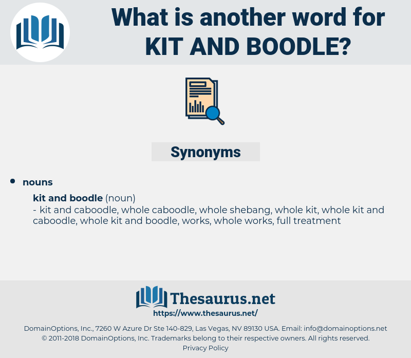 kit and boodle, synonym kit and boodle, another word for kit and boodle, words like kit and boodle, thesaurus kit and boodle