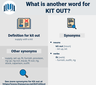 kit out, synonym kit out, another word for kit out, words like kit out, thesaurus kit out