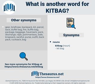 kitbag, synonym kitbag, another word for kitbag, words like kitbag, thesaurus kitbag