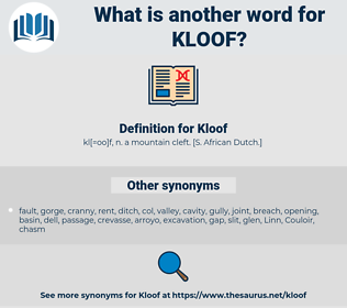 Kloof, synonym Kloof, another word for Kloof, words like Kloof, thesaurus Kloof