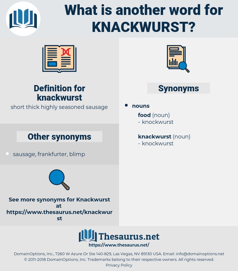 knackwurst, synonym knackwurst, another word for knackwurst, words like knackwurst, thesaurus knackwurst
