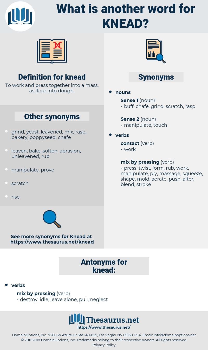 knead, synonym knead, another word for knead, words like knead, thesaurus knead