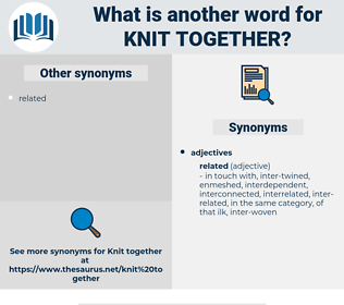knit together, synonym knit together, another word for knit together, words like knit together, thesaurus knit together