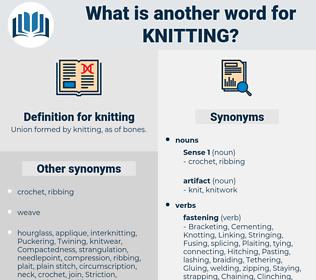 knitting, synonym knitting, another word for knitting, words like knitting, thesaurus knitting