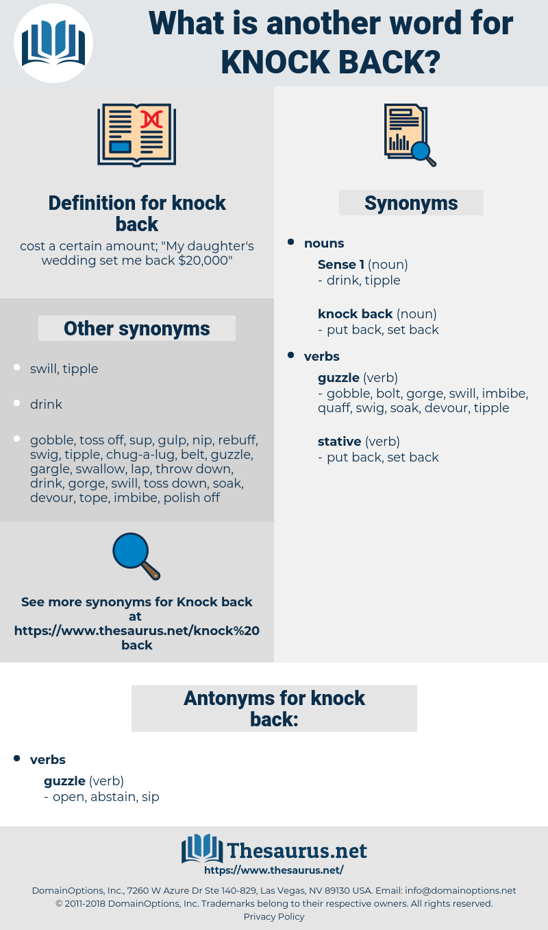 knock back, synonym knock back, another word for knock back, words like knock back, thesaurus knock back