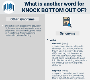 knock bottom out of, synonym knock bottom out of, another word for knock bottom out of, words like knock bottom out of, thesaurus knock bottom out of