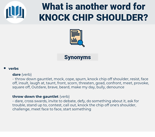 knock chip shoulder, synonym knock chip shoulder, another word for knock chip shoulder, words like knock chip shoulder, thesaurus knock chip shoulder