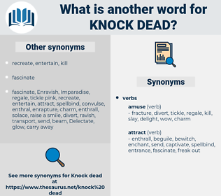 knock dead, synonym knock dead, another word for knock dead, words like knock dead, thesaurus knock dead