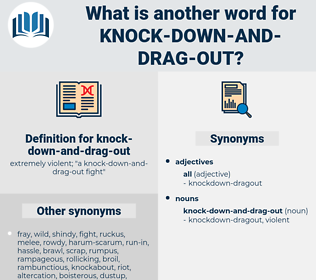 knock down and drag out, synonym knock down and drag out, another word for knock down and drag out, words like knock down and drag out, thesaurus knock down and drag out