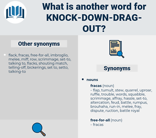 knock down drag out, synonym knock down drag out, another word for knock down drag out, words like knock down drag out, thesaurus knock down drag out