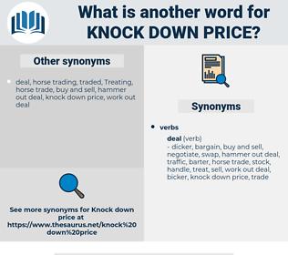 knock down price, synonym knock down price, another word for knock down price, words like knock down price, thesaurus knock down price