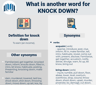 knock-down, synonym knock-down, another word for knock-down, words like knock-down, thesaurus knock-down